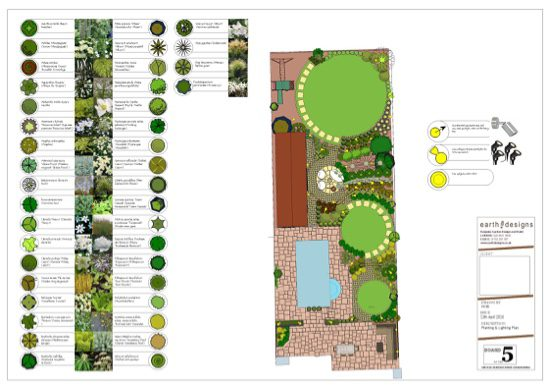 Green and white planting scheme makes for simple fresh look