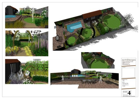 Various viewpoints show how the garden links together