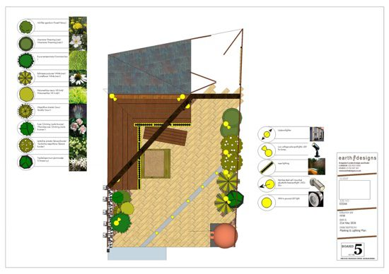planting is a simple green and white scheme with yellow touches