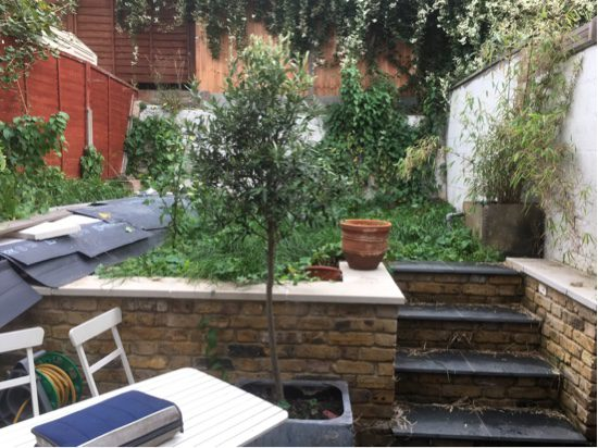 East London Garden designer needed to transform this space
