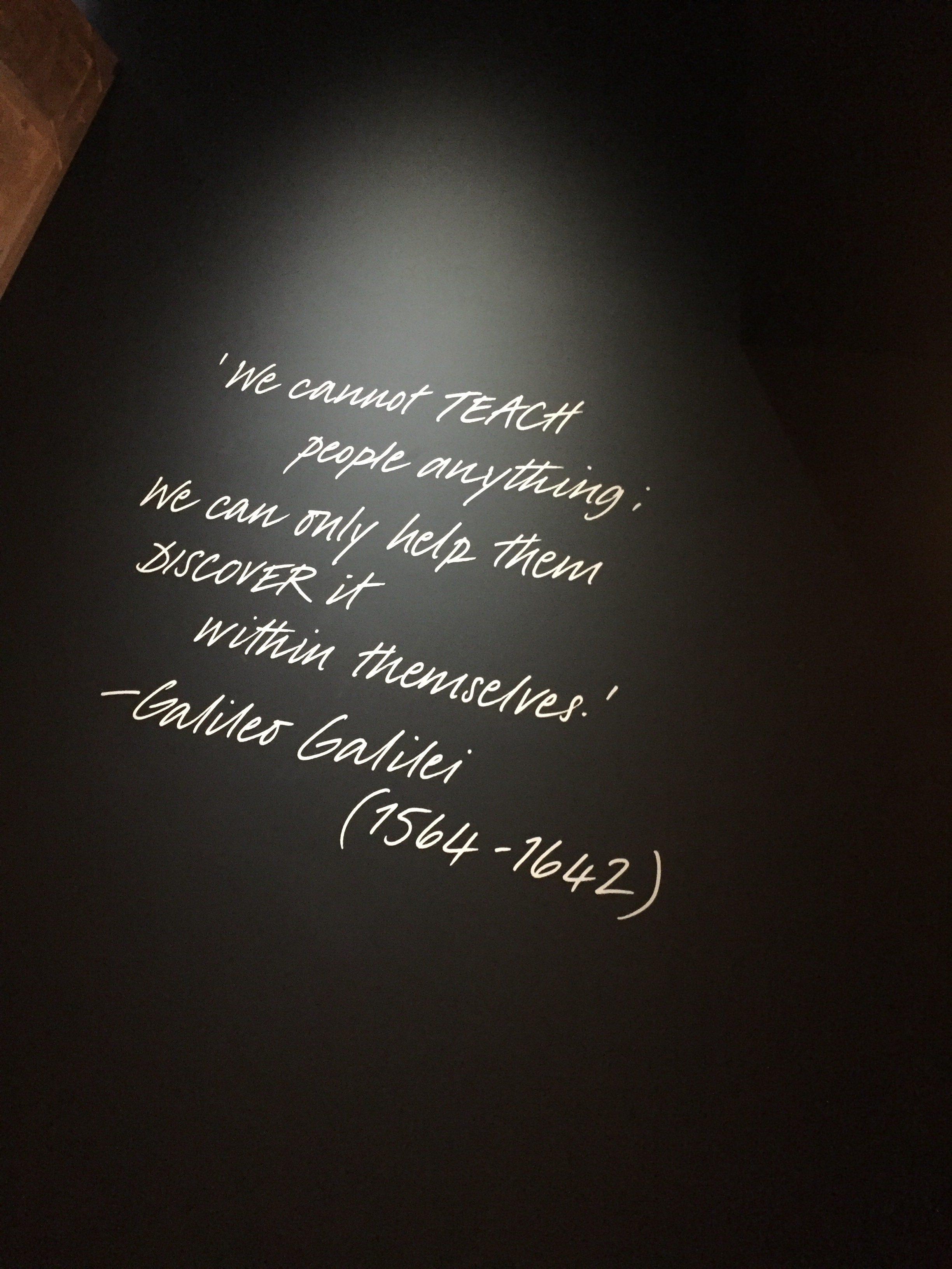 Galileo quote on Opera, Passion, Power and Politics