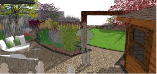 Prairie planting creates bold drifts of plants