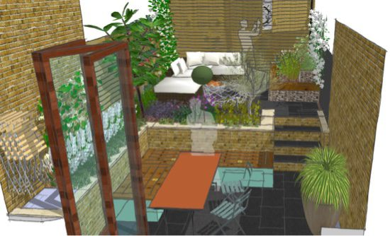 The overall layout of the garden