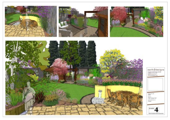 showing the garden from different angles helps visualise it