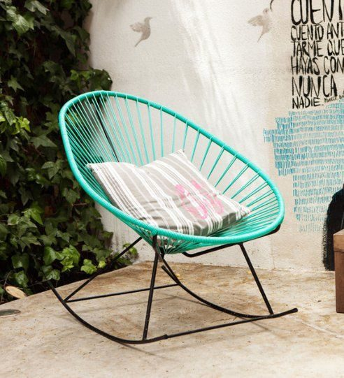 A modern garden chair instantly jazzes up any patio