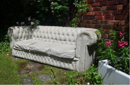 A one off unique garden sofa