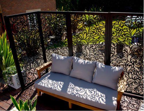 Laser cut garden screens, great in any design