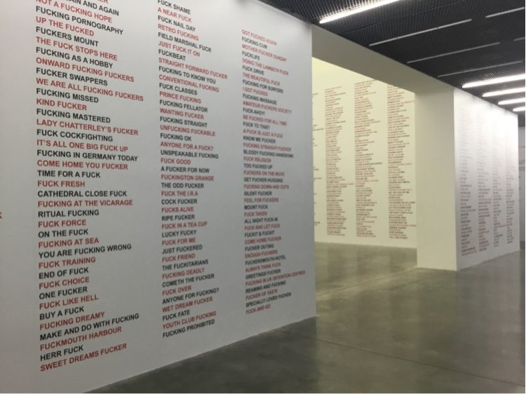 Gilbert and George f word exhibition