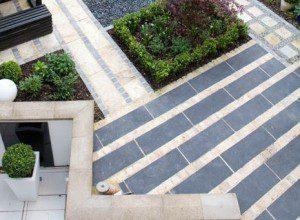 Stone and pebbles hackney garden design