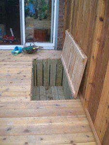 Trapdoor storage