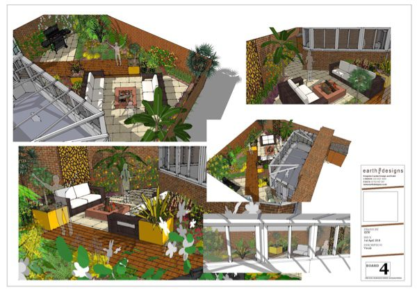 Computer-generated garden visuals help the client to see the garden