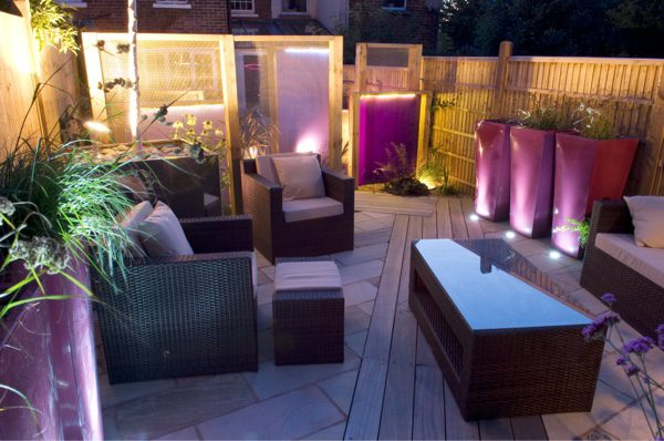 Including features in the garden that will create a diffused light such as Perspex can really make a difference.