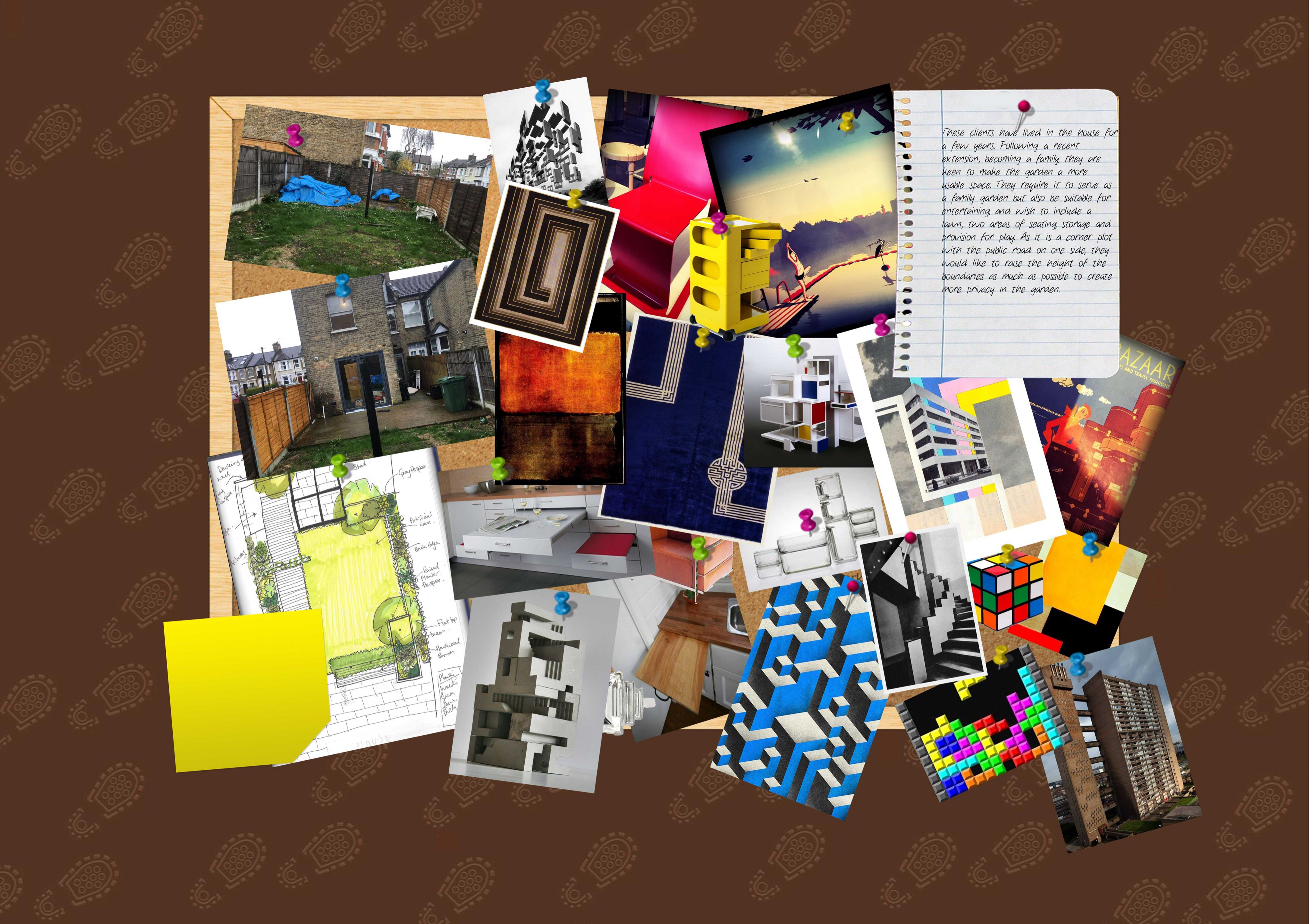 Influences here come from Bauhaus, Trellick Tower and Rubik's cube