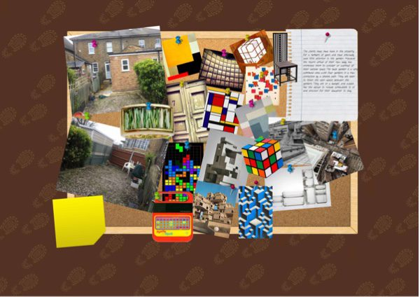 Influences in this garden come from Rubiks cube, Macintosh chairs Bauhaus architecture