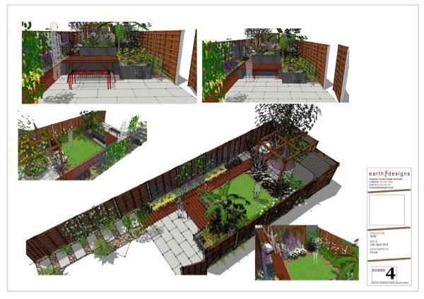 Visuals created on CAD give a clear picture of the proposed garden makeover