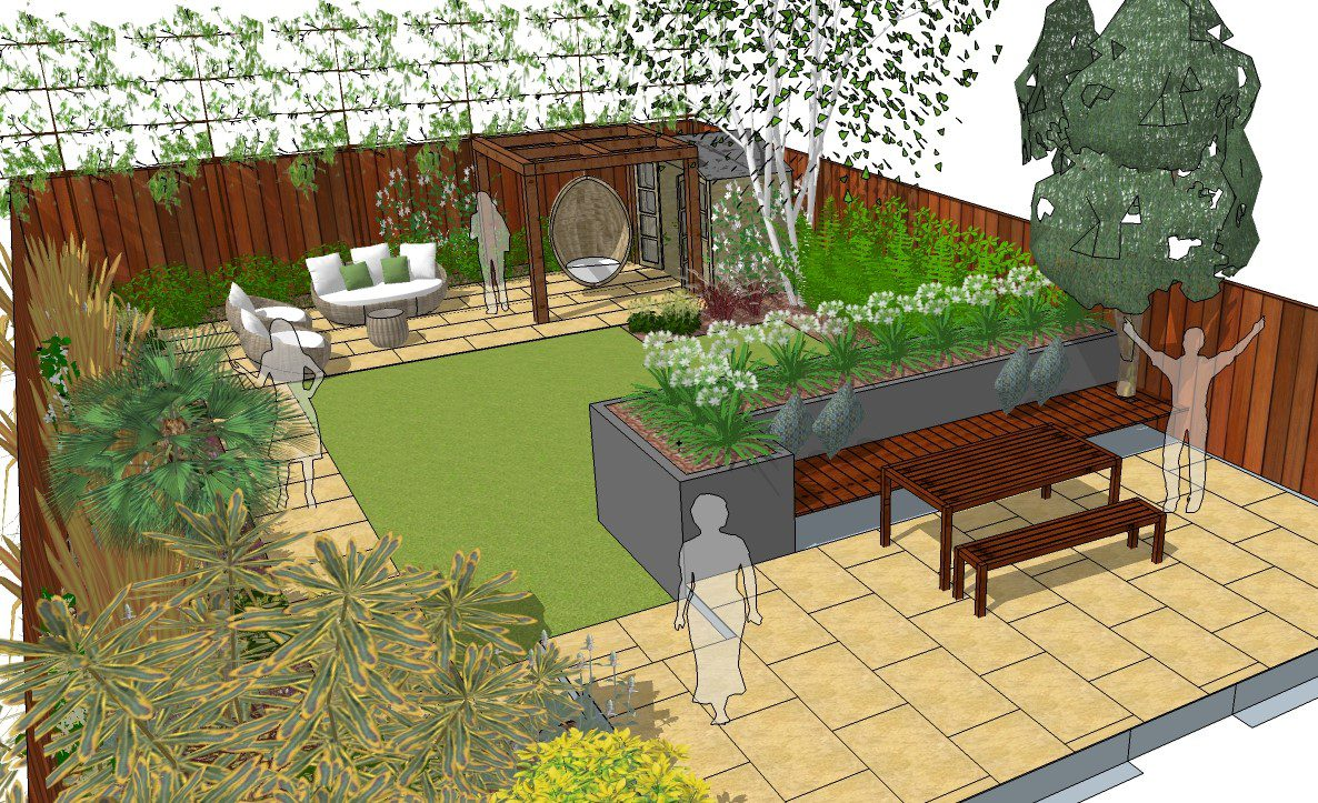 Loughton Garden Designer needed to help us with our space ... on L Shaped Backyard Ideas id=35574
