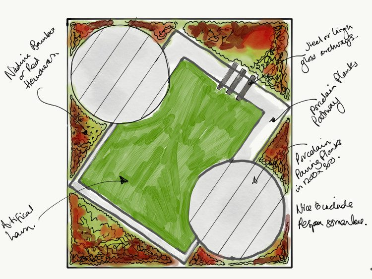 Modern Art Deco-inspired garden design