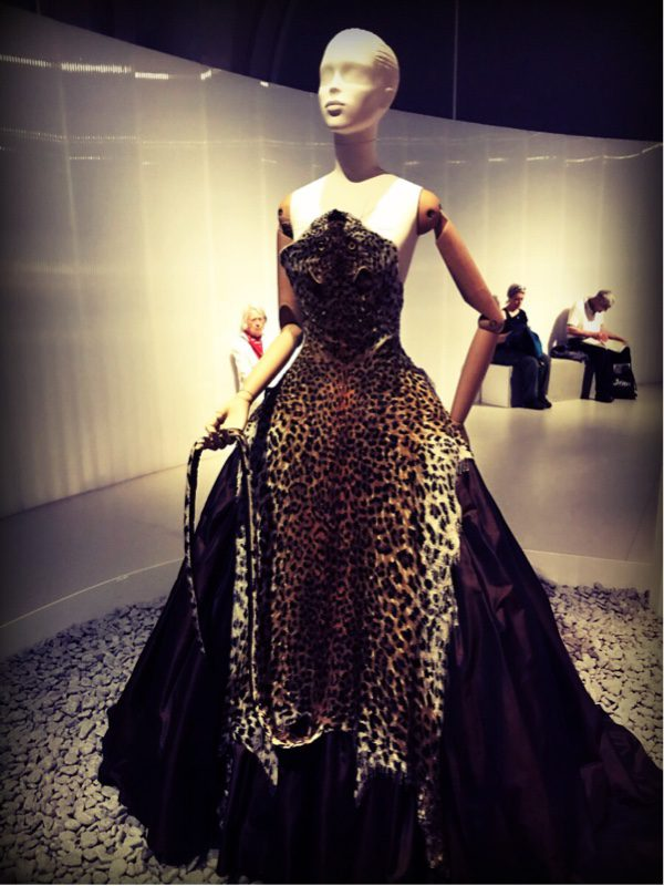 What appears to be an animal skin, is actually made from thousands of tiny beads. Shown here in this Jean Paul Gaultier 'cat woman dress