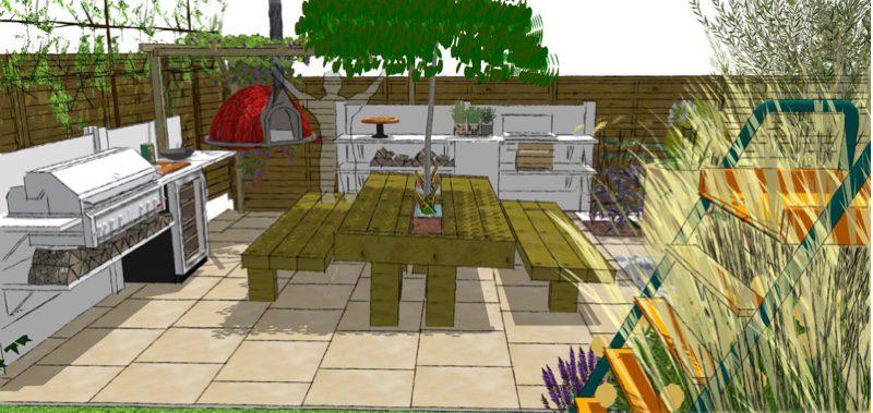 A fabulous bespoke kitchen creates maximum alfresco dining