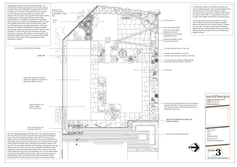 The scale plan details the Garden layout