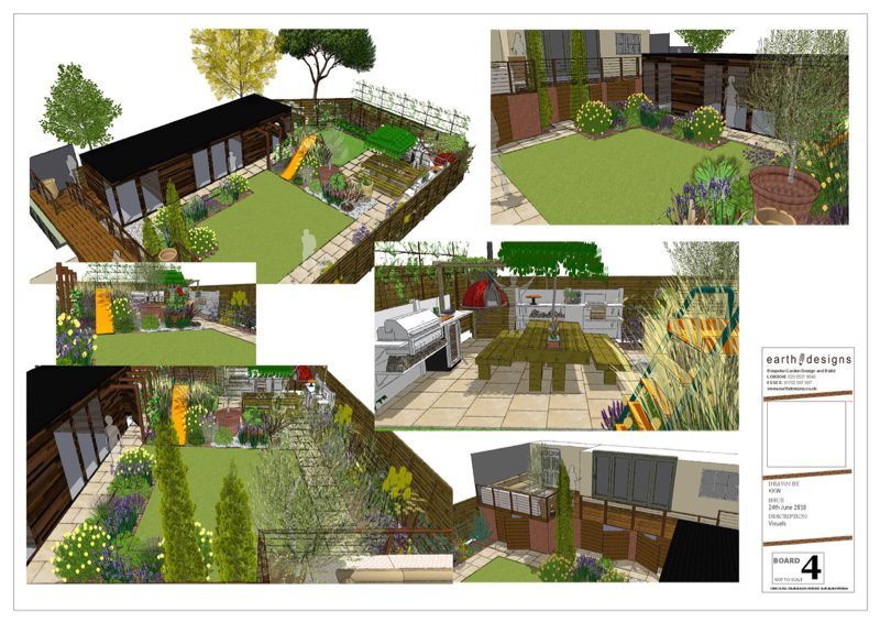 Visualisations drawn onto CAD help the client to see The garden layout