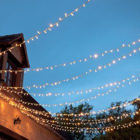 Lights can jazz up your garden patio design