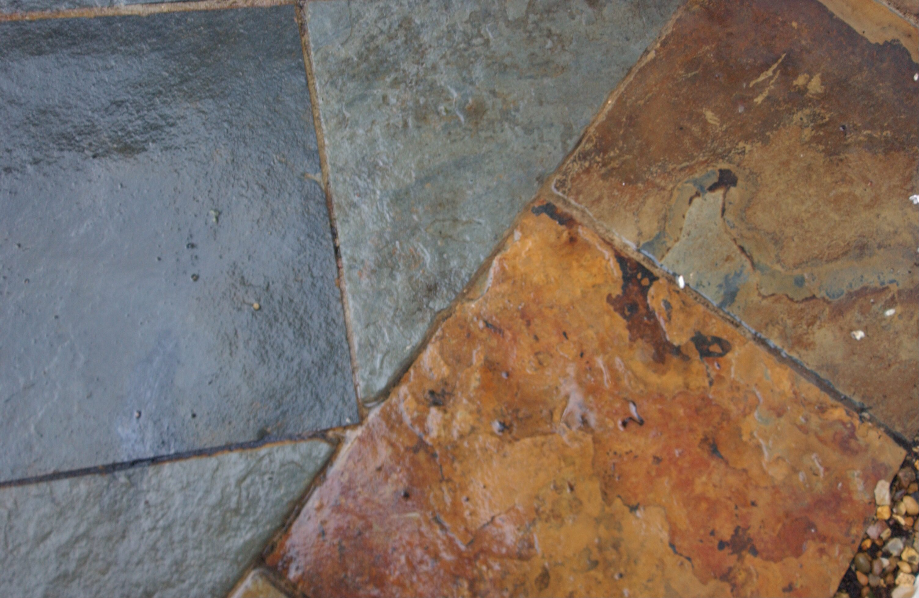 Slate is a great option for your garden paving design