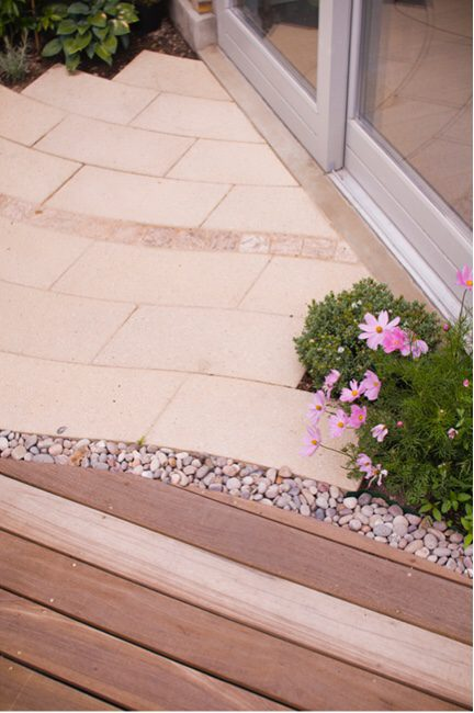 Composite stone can jazz up your garden paving design