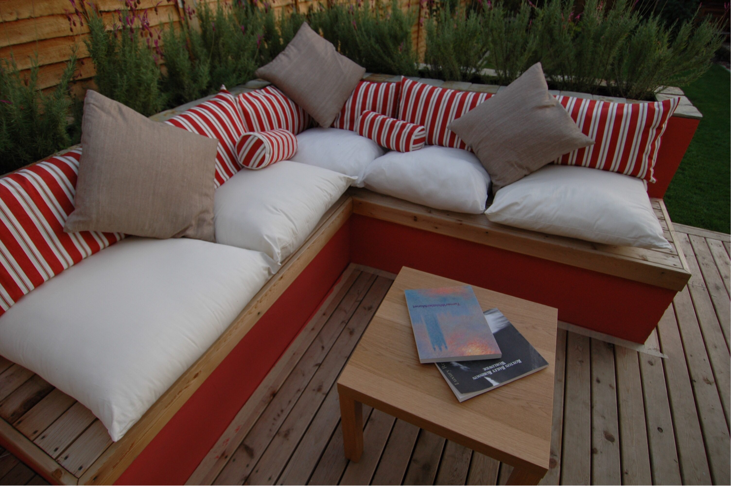 Add furniture to your garden patio design for a softer look