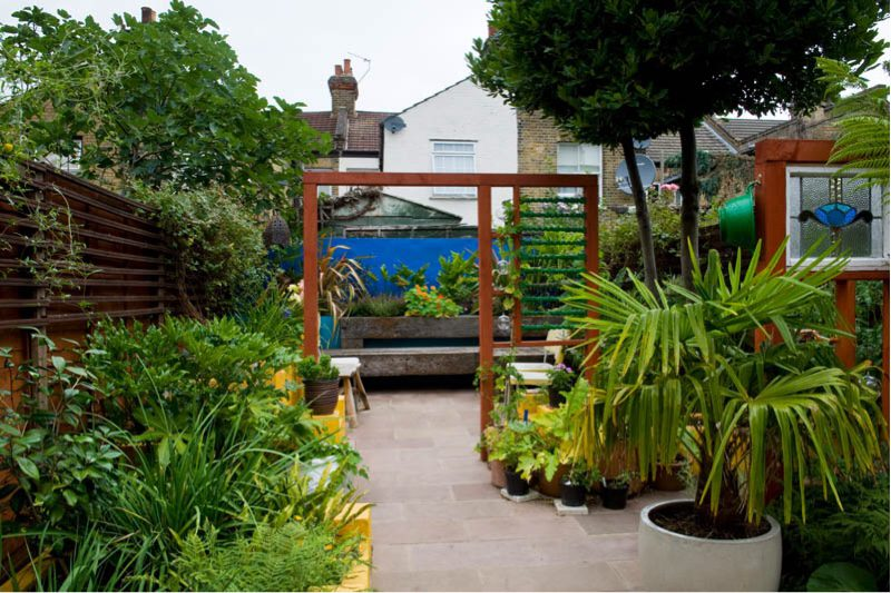 Be bold with your pots in your garden patio design