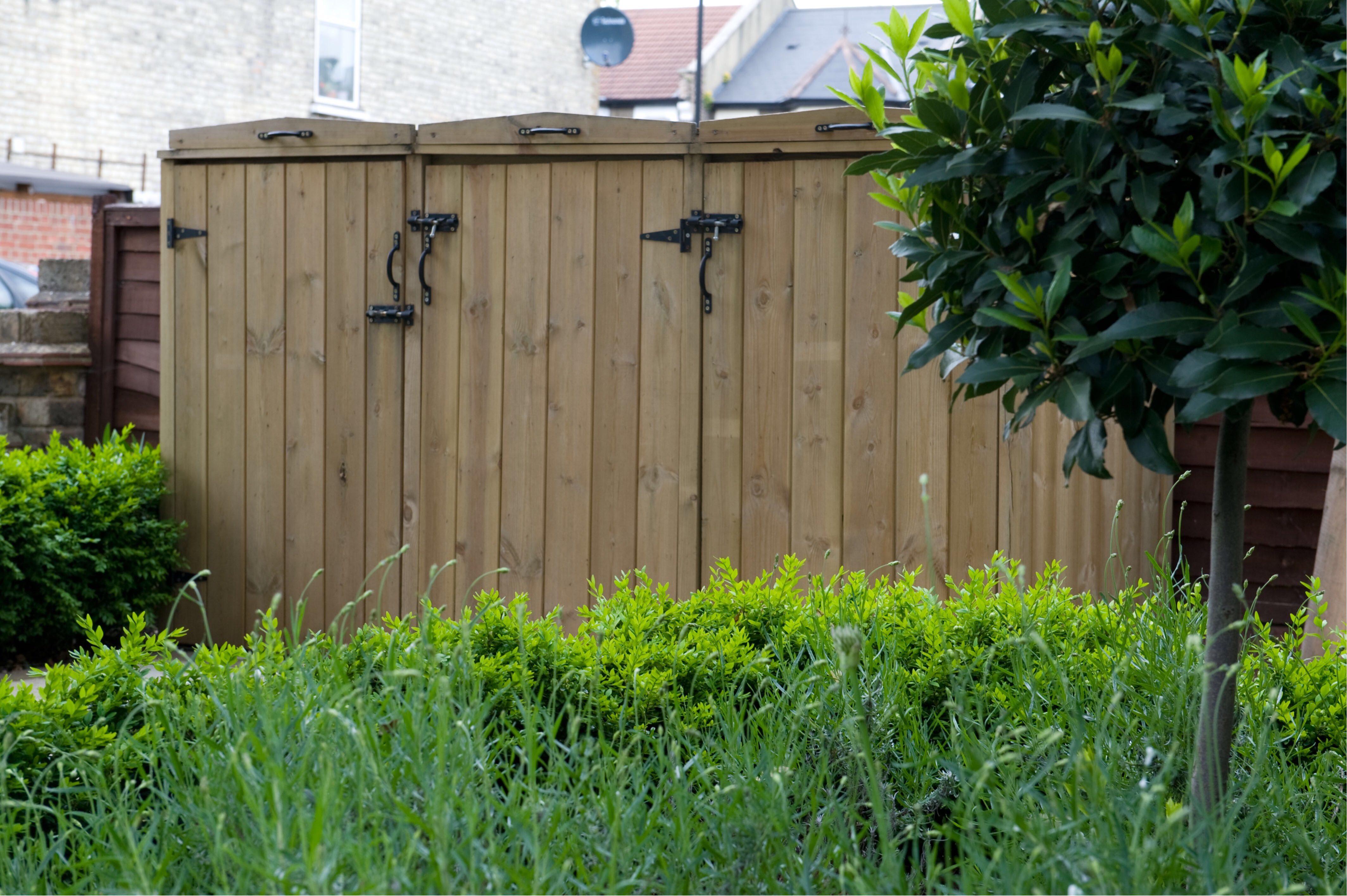 Front Garden ideas - hide your bins