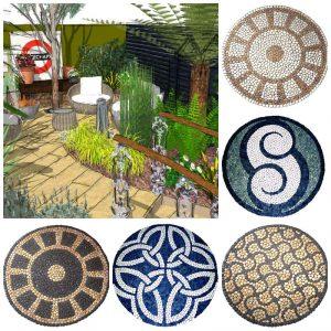 collage of ideas for Victorian Garden Design