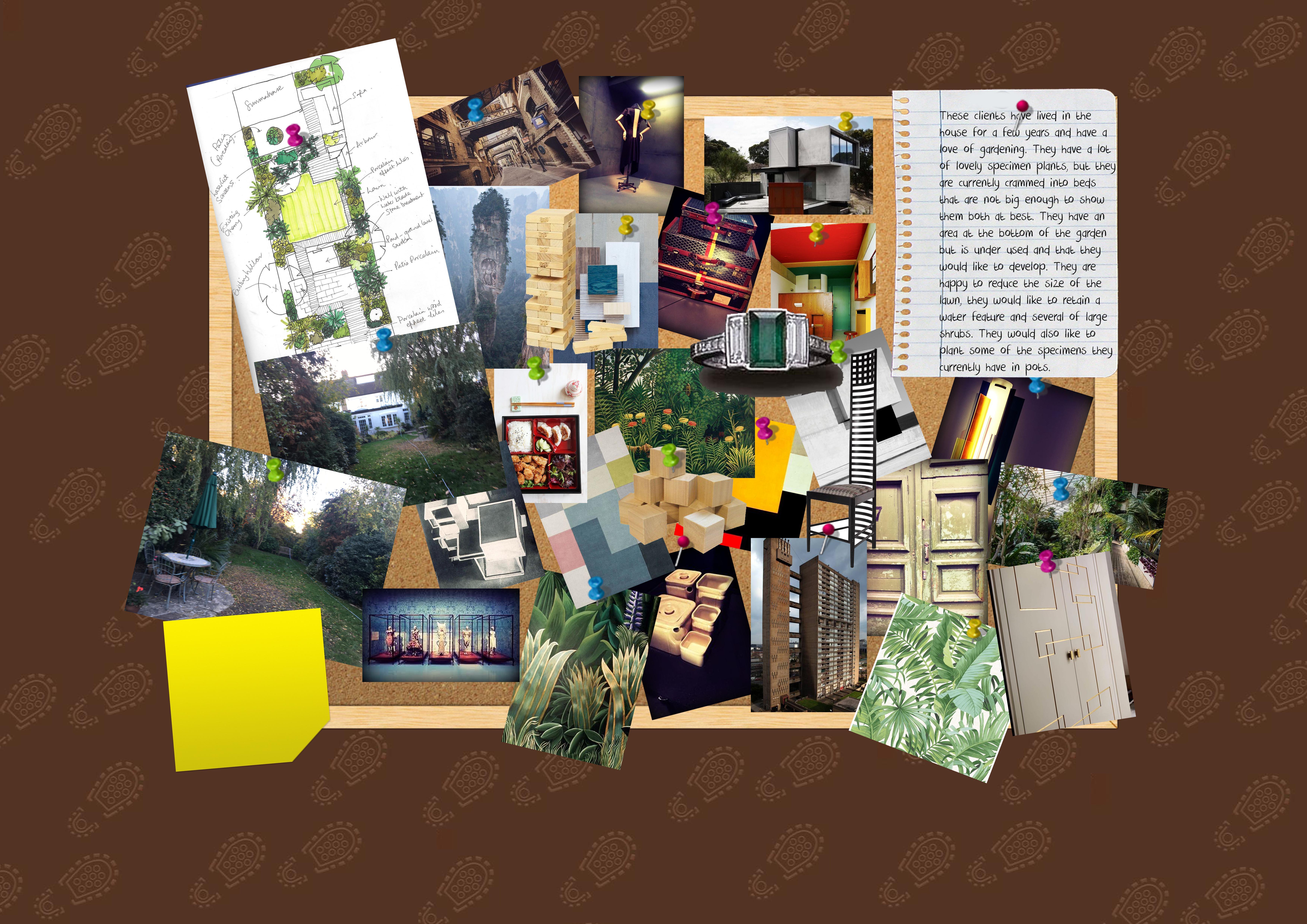 Ideas board - Earth Designs' garden layout
