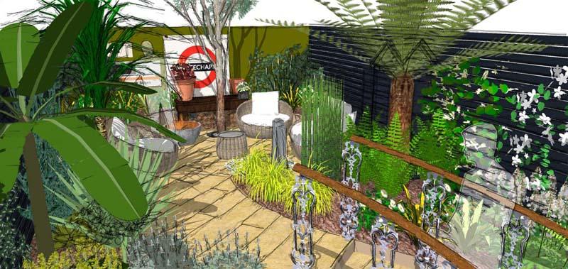 multi-level garden layout design