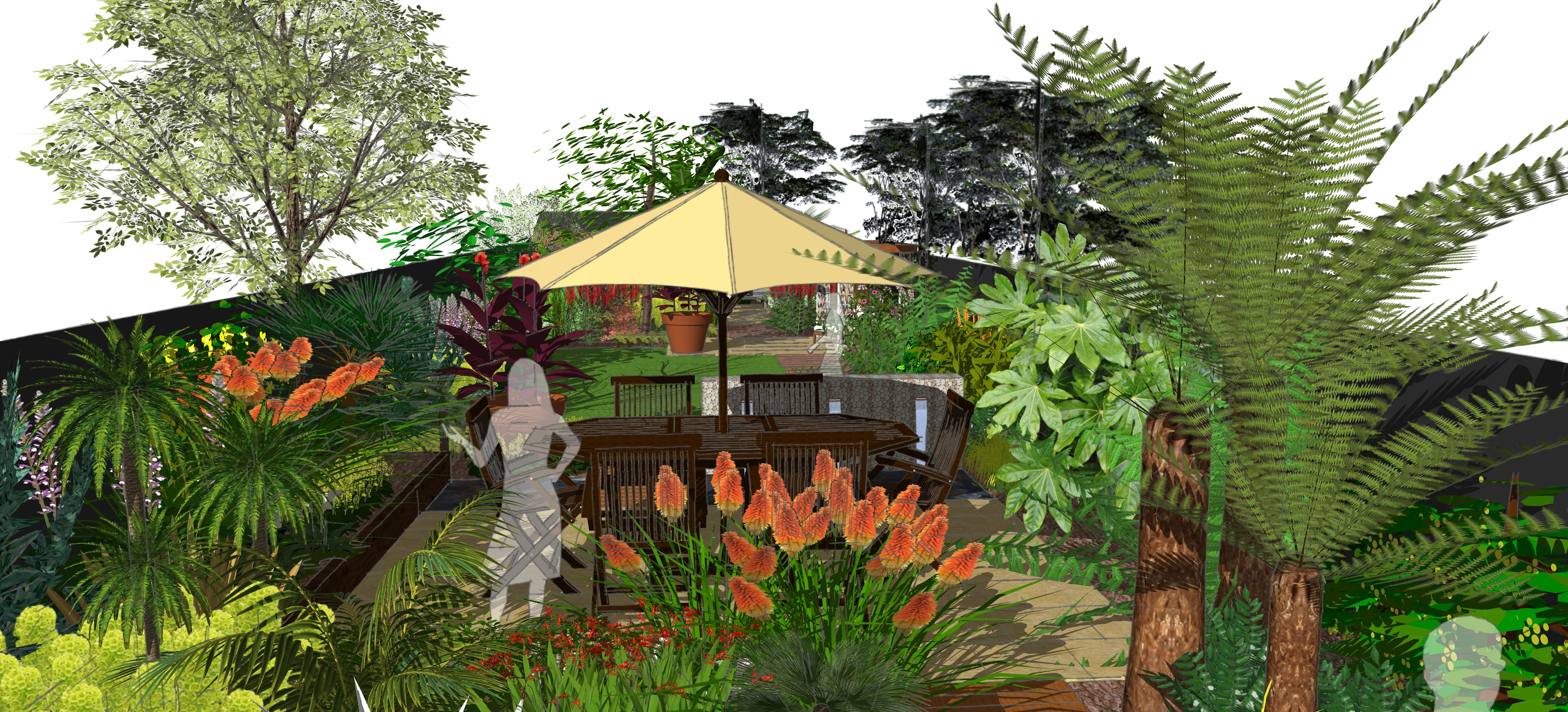 Garden layout - new summerhouse and patio - Earth Designs