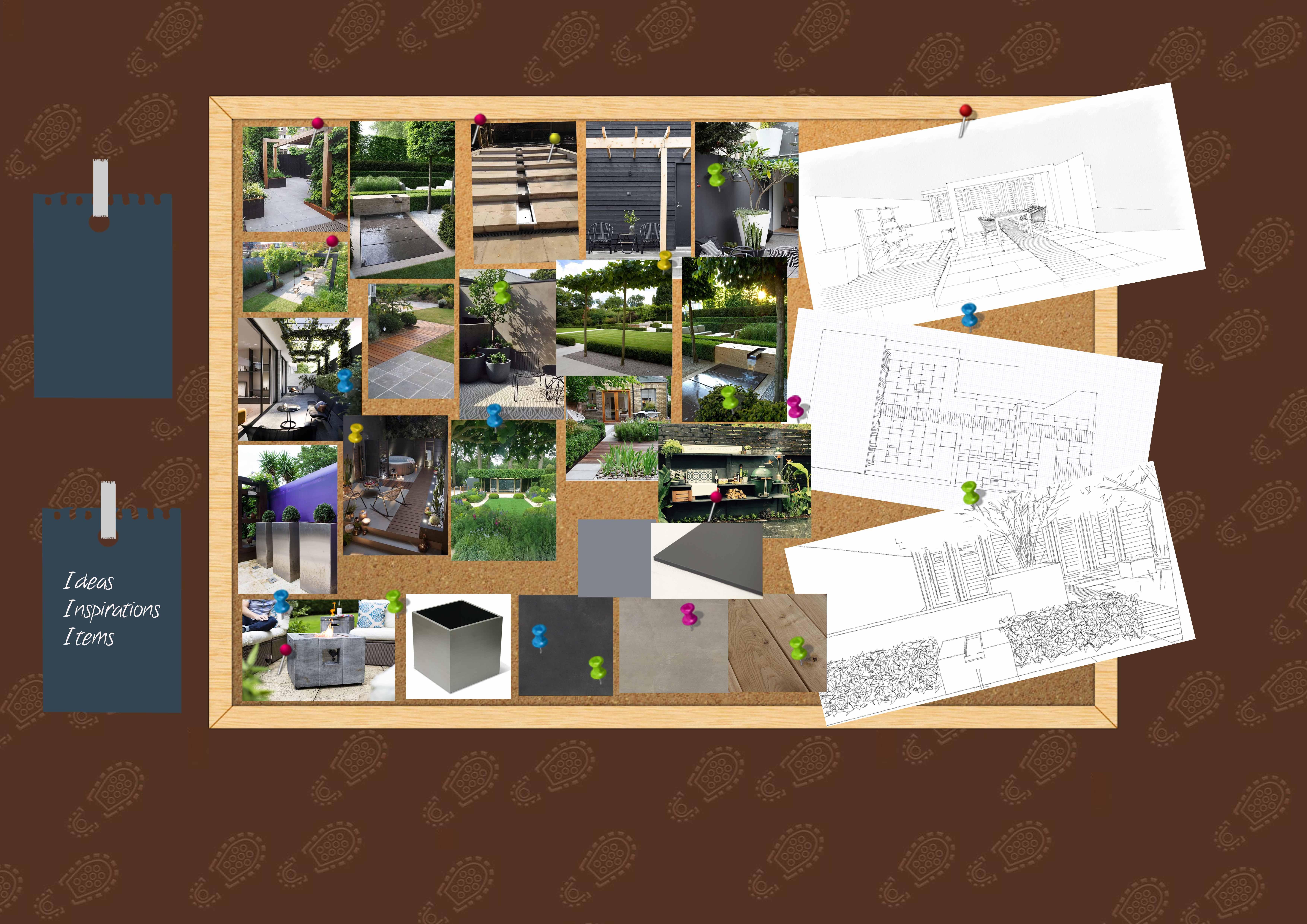 Modern Garden design moodboard
