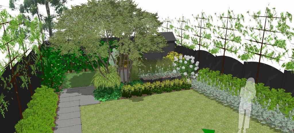 bottom of modern garden design