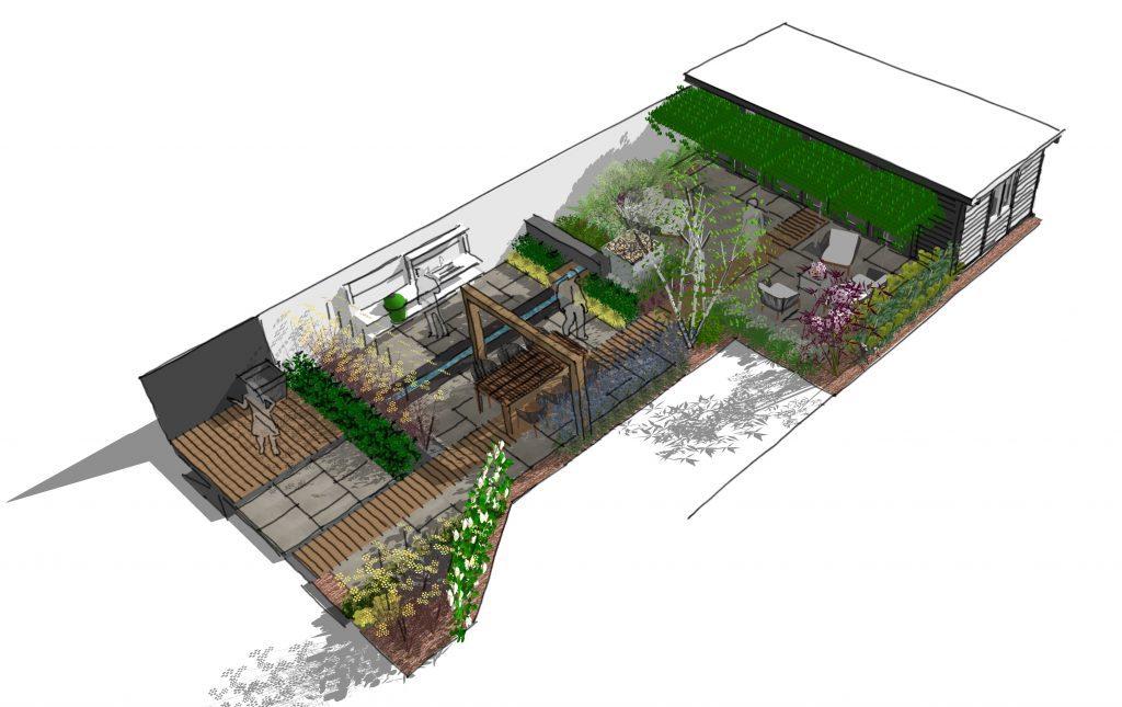 Earth Designs' modern design sketch