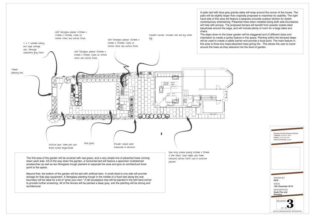 modern garden design plan by Earth Designs