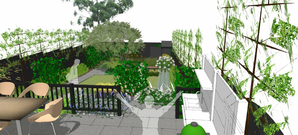 Earth Designs was called to create a modern garden in chalkwell