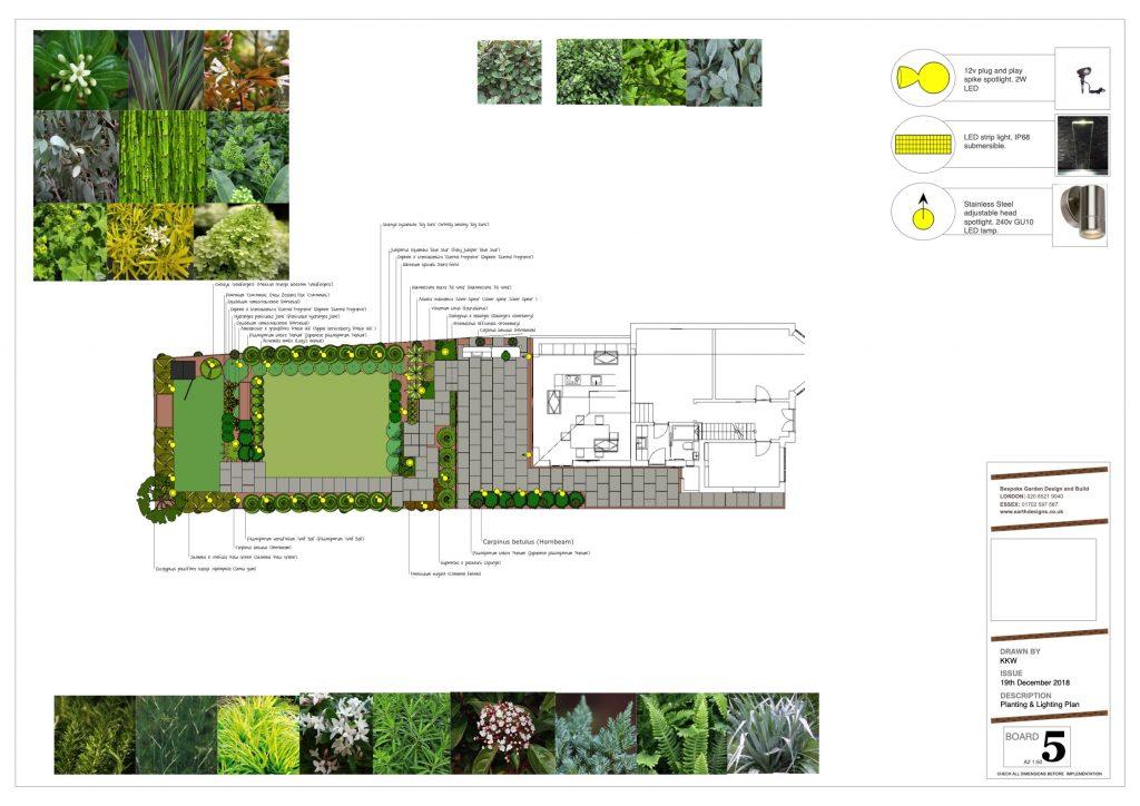 planting plan - modern garden design by Earth Designs