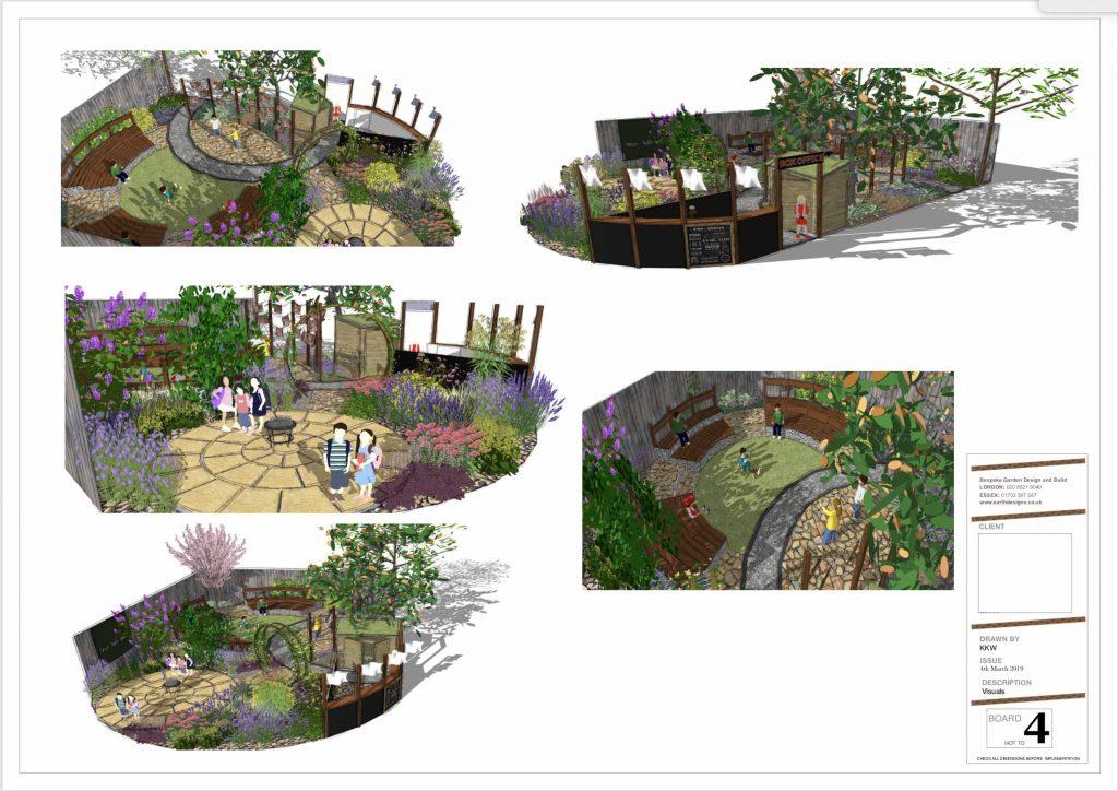 south london garden design sketch - Earth Designs