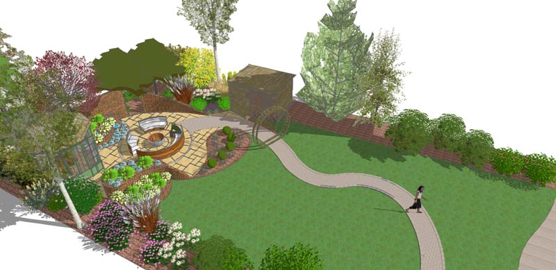 contemporary garden with modern twist design