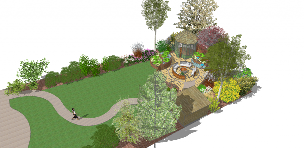 Plans for a contemporary garden with summery twist